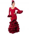 traje de flamenca en rojo