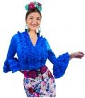 blusas flamencas turquesas