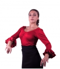 Blusa de ensayo roja