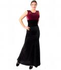 falda flamenca de terciopelo