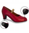 Zapato de flamenco de piel