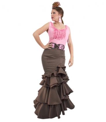 falda flamenca marron
