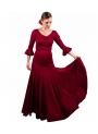 Conjunto Flamenco Falda 8 godet Burdeos y Top