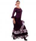 Conjunto de Baile Flamenco Mod Estrella Berenjena