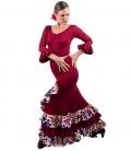 Conjunto Flamenco de Baile Mod Estrella burdeos