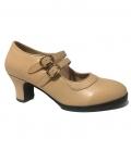 zapatos de flamenco beig