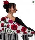 mantones flamencos estampados