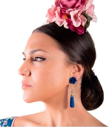 pendientes flamencos de lagrima