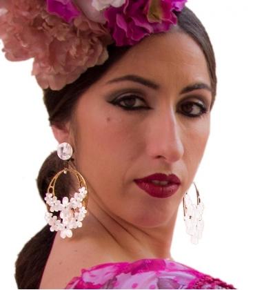 pendientes de flamenca con flores