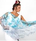 Mantón Flamenco Pequeño Calado con Bordado