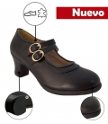 Zapato De Flamenco Doble Suela 2 correas Sin Clavos