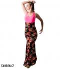 faldas de baile flamenco estampado floral