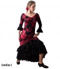 Falda de flamenco modelo taconeo