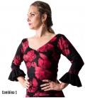 top de flamenco estampado