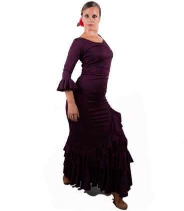 Conjuntos Top y Falda de Baile Salón Berenjena