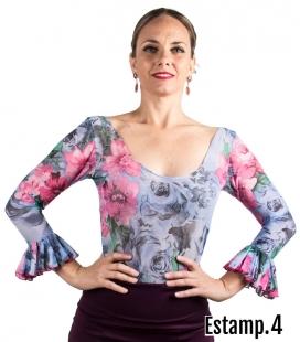 top estampado flamenco