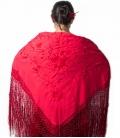 manton de manila rojo