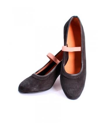 Zapato semiprof de ante