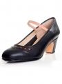 Zapatos flamenco baile piel con detalle