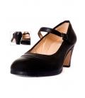 Zapato flamenco piel con hebilla