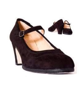 Zapato baile de ante con hebilla