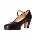 Zapato flamenco punta en pico