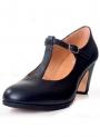 Zapato flamenco de tira con hebilla
