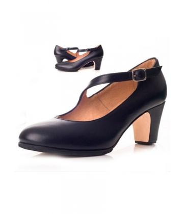 Tira Flamenco Piel Zapato Diagonal Zapato Flamenco 5AR34jLq