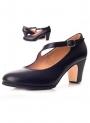 Zapato Flamenco Piel Tira Diagonal