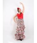Falda flamenca Azucena c/alta licra sra