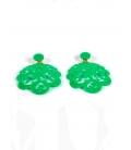 Pendiente flamenca labrado verde