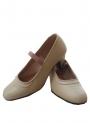 Zapatos Flamenco de Piel Beige