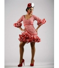 Trajes de Flamenca Cortos Carmín
