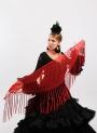 Mantón Flamenco de Plumeti rojo