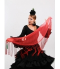 Mantón Flamenco de Plumeti salmon