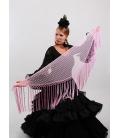 Mantón Flamenco de Plumeti rosa