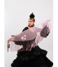 Mantón Flamenco de Plumeti coral