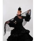Mantón Flamenco de Plumeti negro