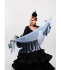 Mantón Flamenco de Plumeti celeste