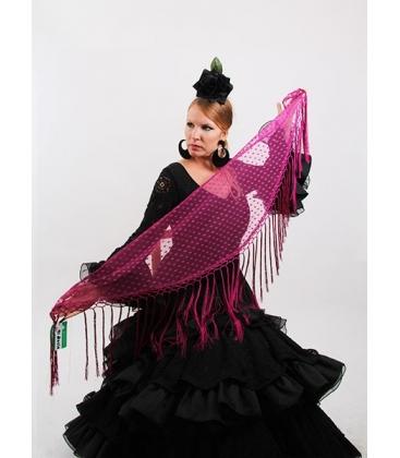 Mantón Flamenco de Plumeti cardenal