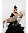 Mantón Flamenco de Plumeti beige