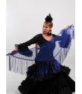 Mantón Flamenco de Plumeti azulon