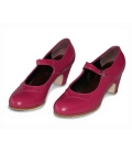 Zapatos Gallardo Mercedes en Piel Fuxia