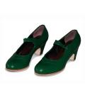 Zapatos Flamenco Gallardo Mercedes en Piel Verde