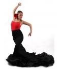 Falda de Cola Flamencas, cintura alta, bata de cola