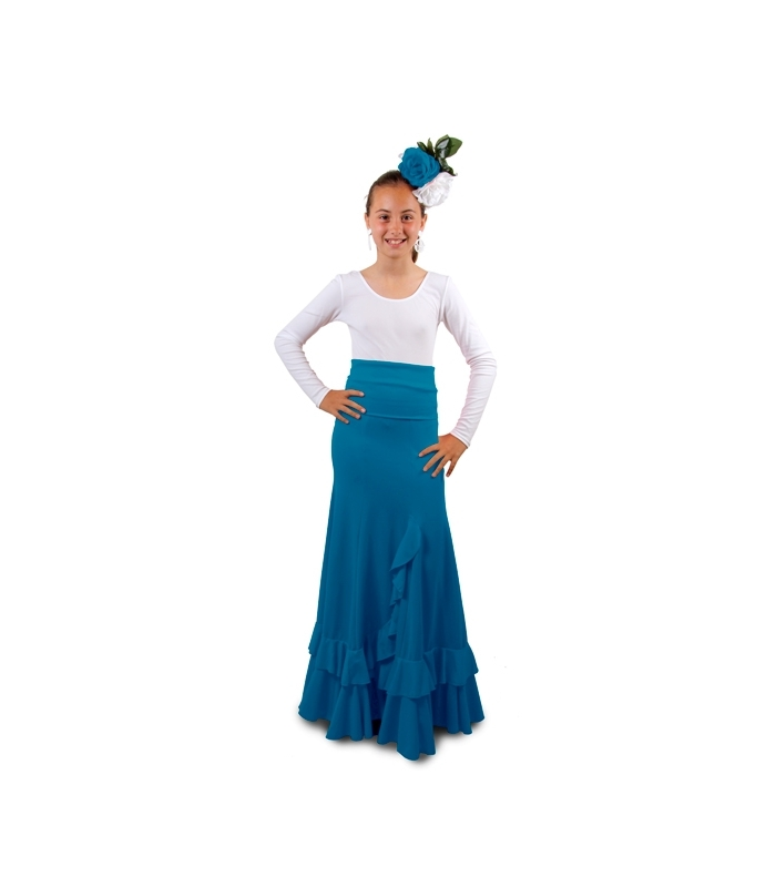 4a4709500 Faldas de Ensayo Flamenco Niñas, Modelo Salon F115 - El Rocio