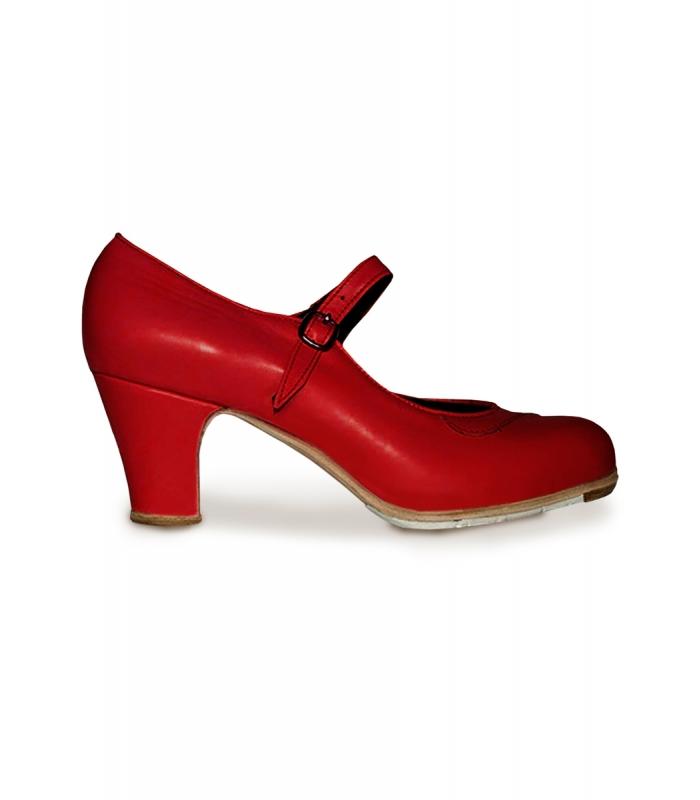 bebaa6ef Zapatos de flamenco de piel, Zapatos Gallardo Mercedes, en piel y ...