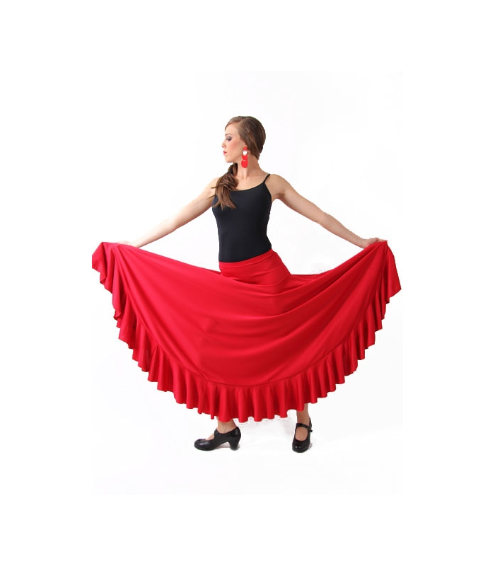 08e9c23bcb Falda flamenca de ensayo para baile flamenco por solo 30 €