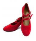zapatos flamenco rojo