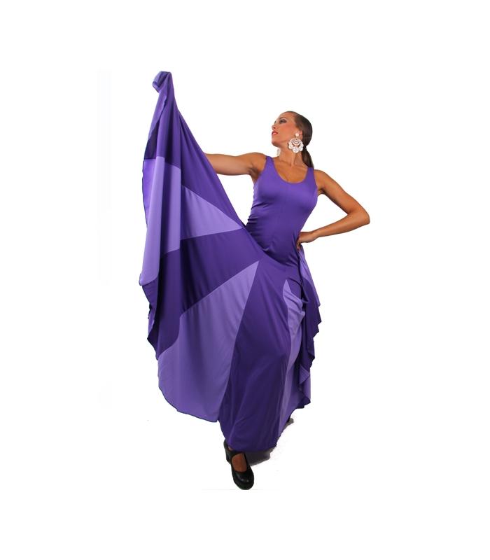 Vestidos de flamenca con godet de capa y media por 110 €